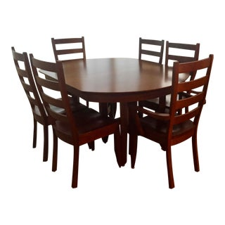 Classic Cherry Extendable Mission/Shaker Dining Set For Sale