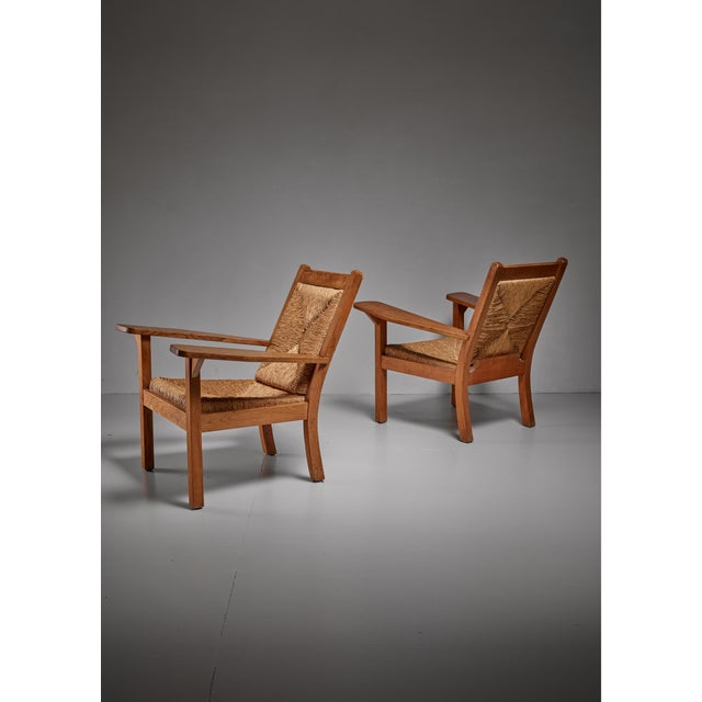 Pair of Worpsweder armchairs by Willi Ohler, Germany - Image 2 of 3