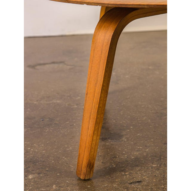 Vintage Eames Molded Coffee Table Wood Base For Sale In New York - Image 6 of 9