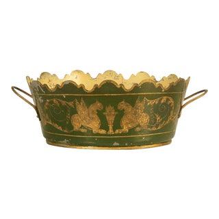 French Tole Jardinière C. 1800s For Sale