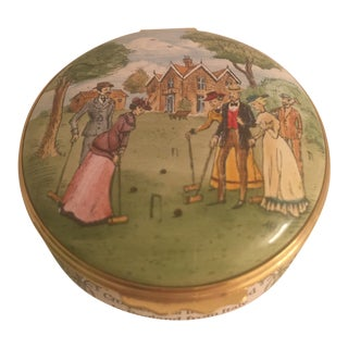 "Halcyon Days ""Croquet"" Enamel Box For Sale"