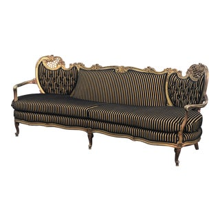 1940s Antique Rococo Settee For Sale