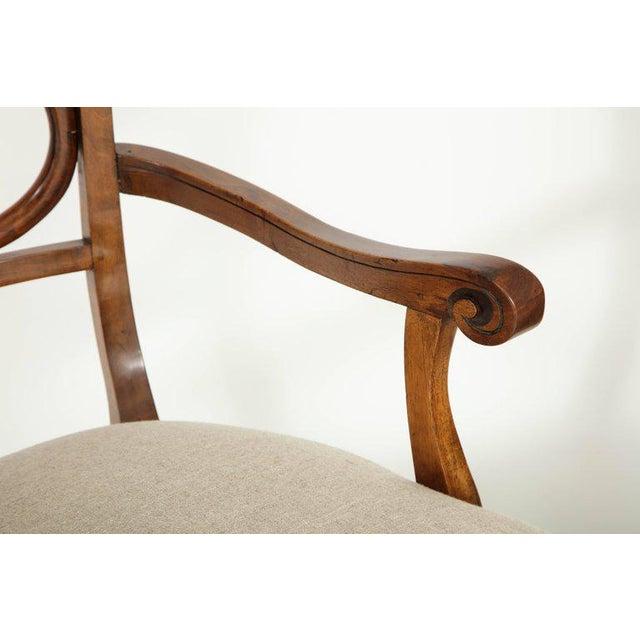 Biedermeier Pair of Biedermeyer Armchairs For Sale - Image 3 of 10