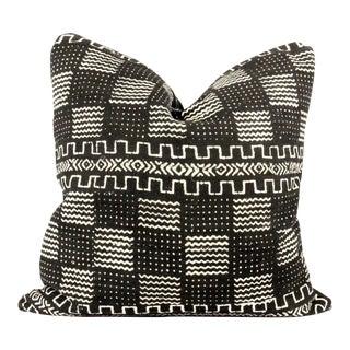 Redux Black Mudcloth Pillow For Sale