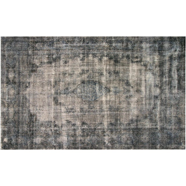 """Vintage Overdyed Persian Rug - 9'9""""x16'8"""" For Sale"""