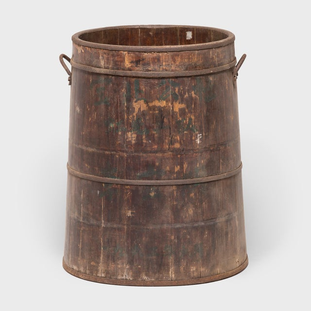 Brown Provincial Chinese Water Barrel For Sale - Image 8 of 8