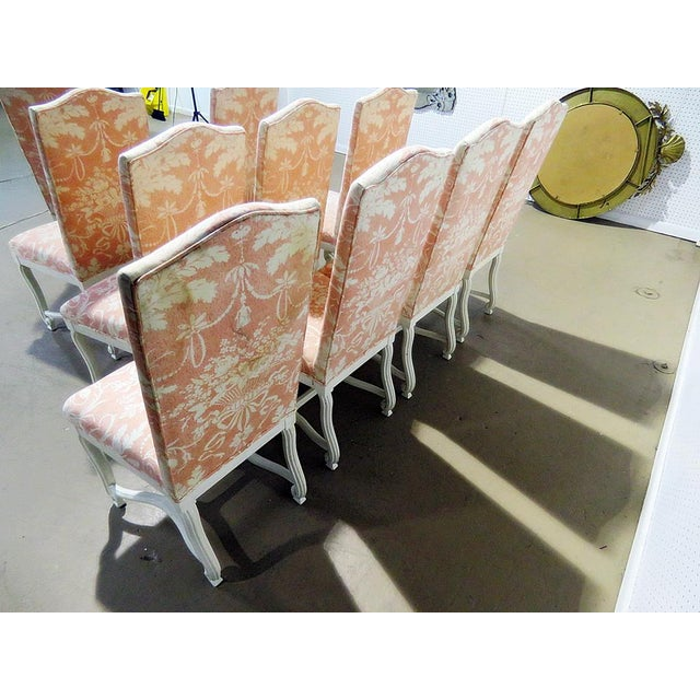 Louis XV Style Dining / Side Chairs - Set of 10 For Sale In Philadelphia - Image 6 of 9