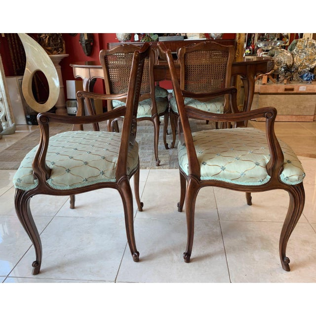 Mid 20th Century Vintage Kindel Borghese Dining Chairs - Set of 6 For Sale - Image 5 of 11
