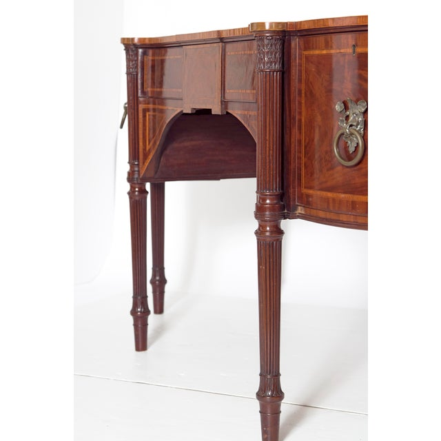 Late 18th Century Late 18th Century Mahogany George III Sideboard With Cellerette For Sale - Image 5 of 13