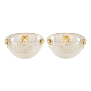 Vintage 1990s Murano Glass Sconces by Seguso for Versace - a Pair For Sale