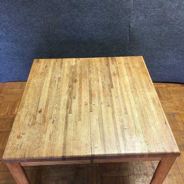 Oak Butcher Block Dining Table - Image 7 of 7