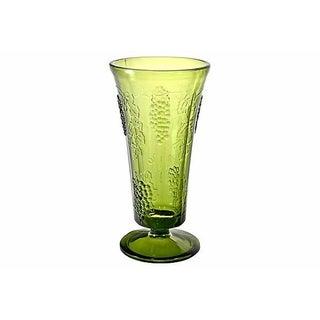 Green Grape & Vine Trumpet Vase Preview