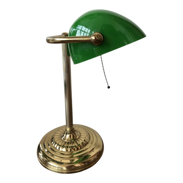 Green Bankers Lamp For Sale