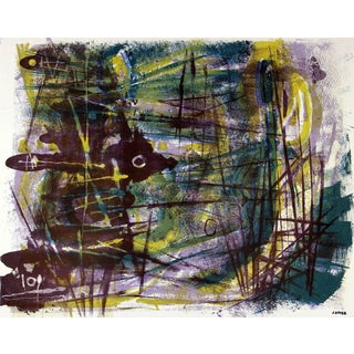 Jerry Opper Abstract Expressionist Lithograph, Circa 1950 For Sale