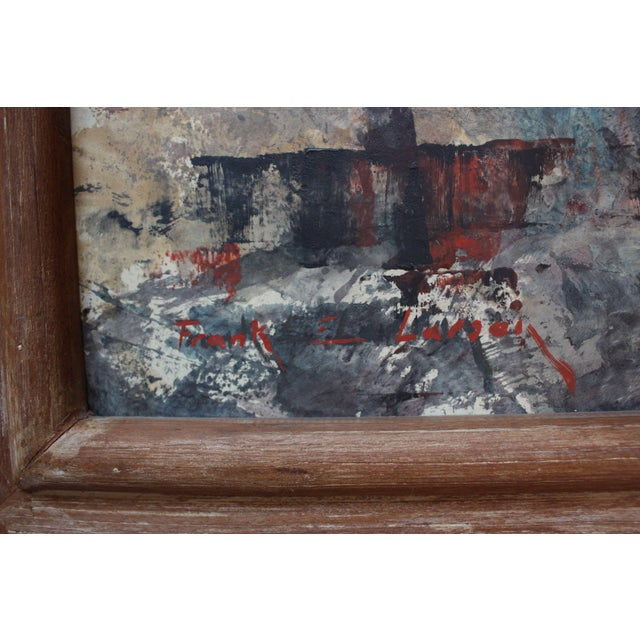 Abstract Frank Edwin Larson Abstract Oil and Gouache on Canvas For Sale - Image 3 of 9