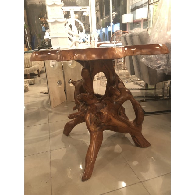 Vintage Mid-Century Modern Freeform Cypress Tree Root Trunk Dining Center Table Base For Sale - Image 12 of 13