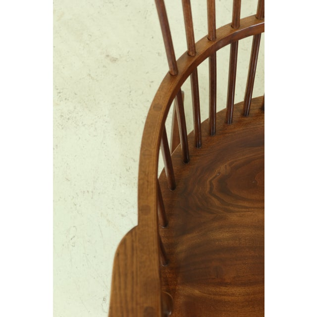 Wood Frederick Duckloe Cherry Fan Back Windsor Rocking Chair For Sale - Image 7 of 10