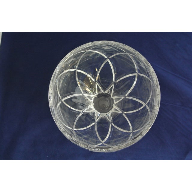 Vintage Heavy Cut Crystal Decorative Bowl For Sale - Image 9 of 9