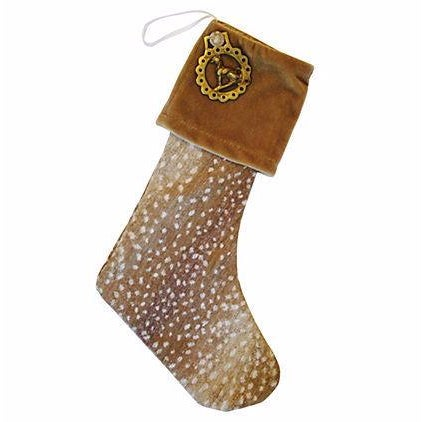 Custom Made Brass Medallion Christmas Stocking - Image 1 of 3