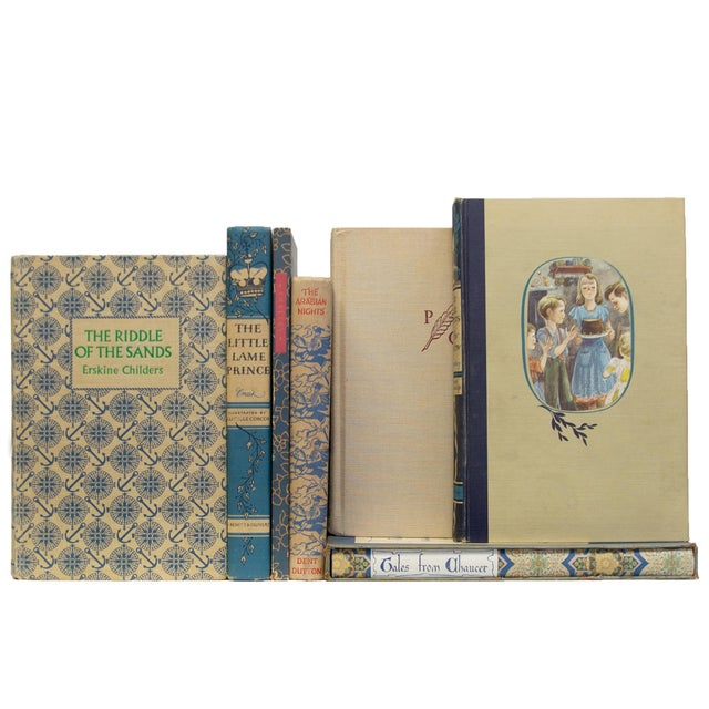 Transitional Vintage Blue Willow Books - Set of 15 For Sale - Image 3 of 4