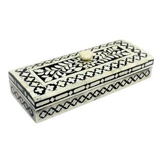 Casa Cosima Maison Decorative Box Long in Black & White For Sale