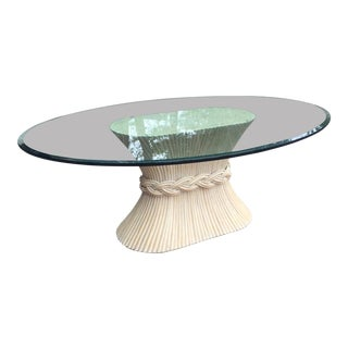 McGuire Wheat Sheaf Dining Table