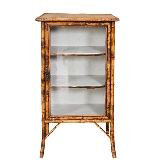 English Victorian Bamboo Cabinet For Sale