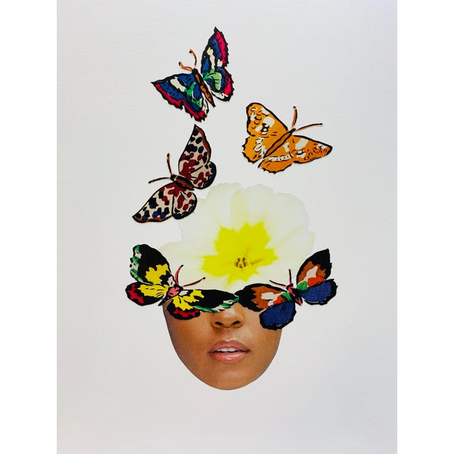 Act Like a Butterfly Multimedia Collage For Sale