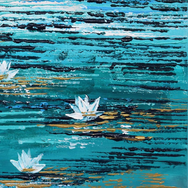 """2010s """"Water Lily 5"""" Original Artwork by Ivana Milosevic For Sale - Image 5 of 10"""