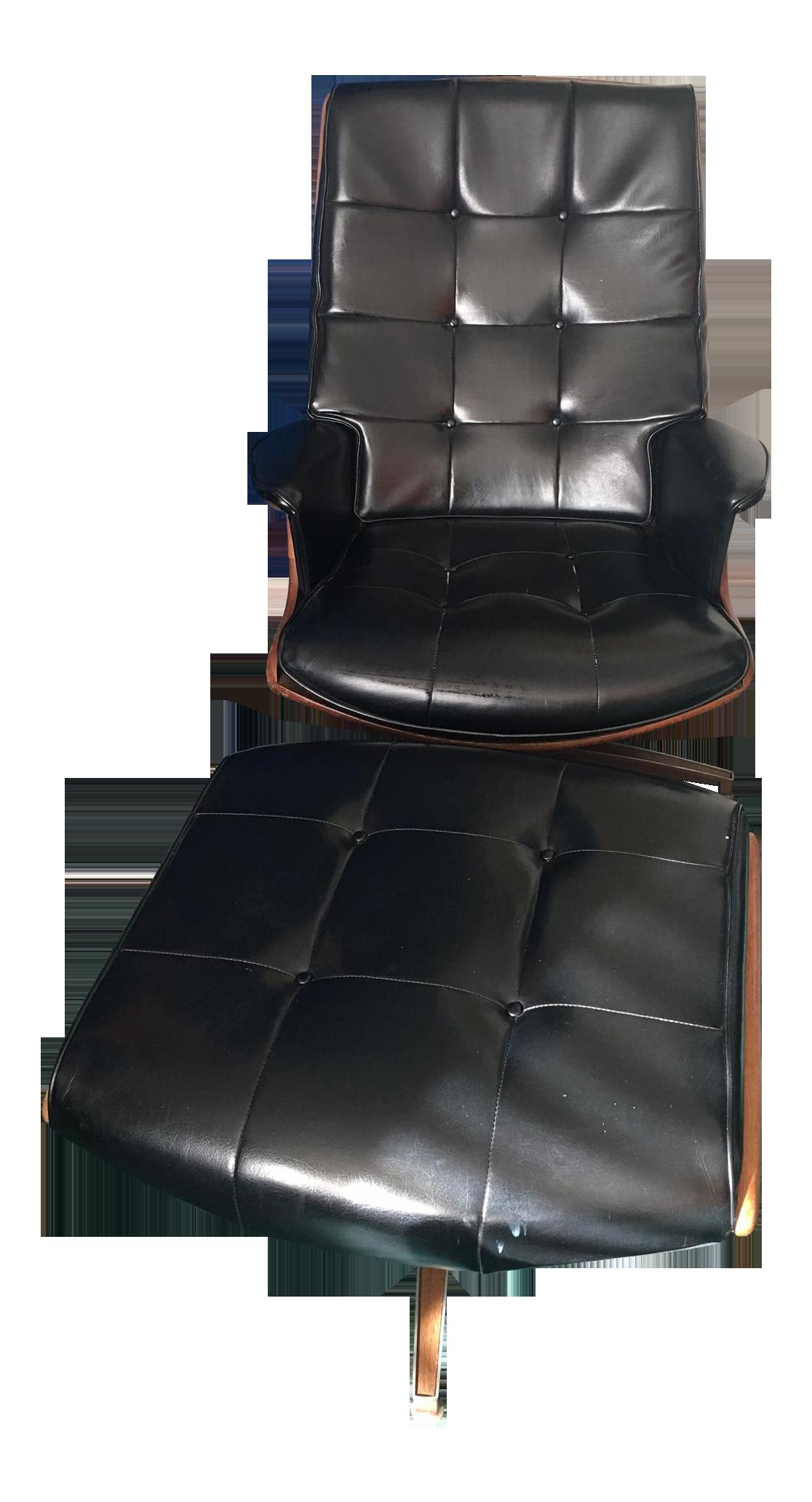 Heywood-Wakefield Lounge Chair and Ottoman  sc 1 st  Chairish & Heywood-Wakefield Lounge Chair and Ottoman   Chairish