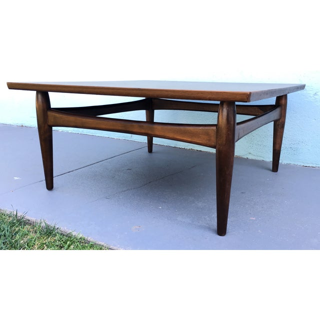 Square Mid-Century Modern Coffee Table - Image 5 of 7