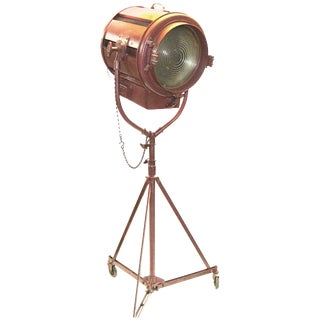 1950s Hollywood Studio 5,000 Watt Floor Lamp Sculpture on Correct Caster Stand For Sale
