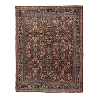Antique Persian Mahal Garden Area Rug with Traditional Style