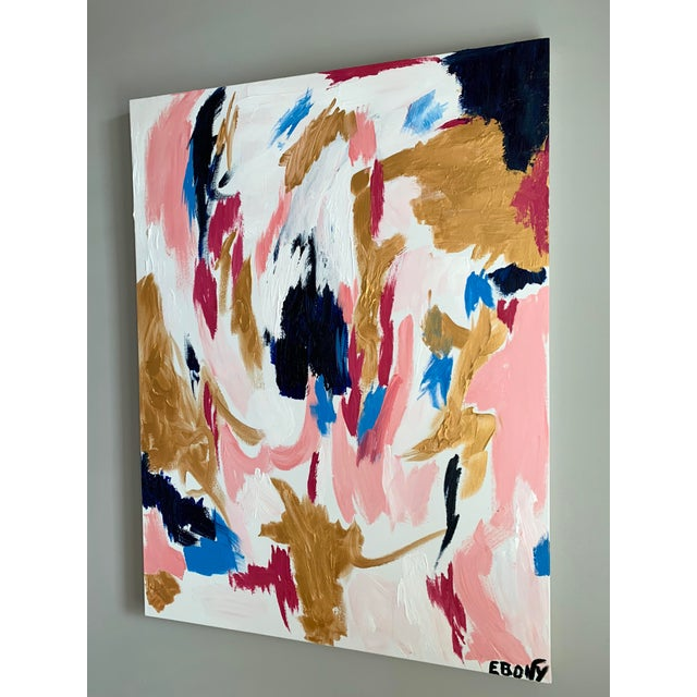 This gorgeous soft yet deep abstract is an original by Memphis native Ebony Boyd. This come from her Glam Series. It's...
