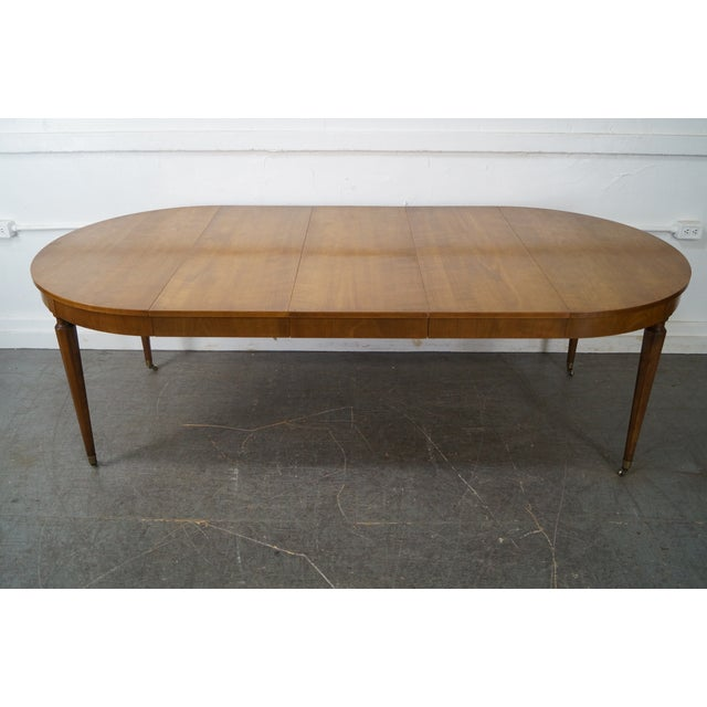Kindel Vintage Regency Directoire Style Round Extension Dining Table - Image 4 of 10