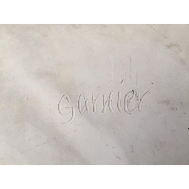 20th Century Art Deco Garnier Opalescent Glazed Porcelain Scalloped Art Plate For Sale In Los Angeles - Image 6 of 8