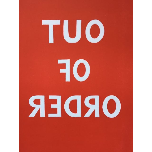 1970s 1970s Pop Art Text Print Signed by Jean Sariano For Sale - Image 5 of 11