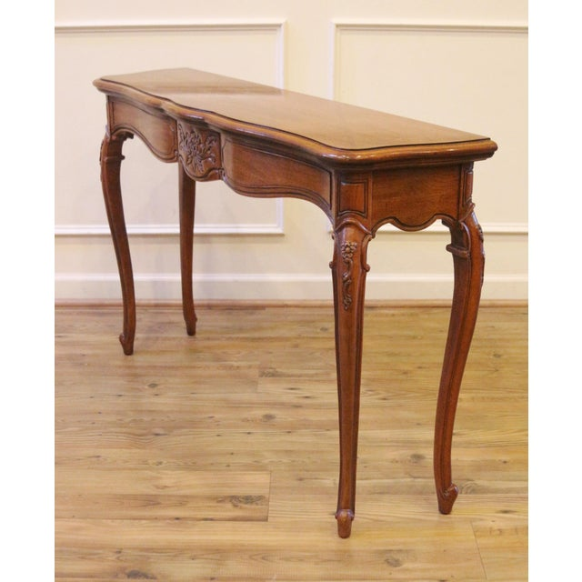 Brown 1970s Vintage Thomasville French Country Style Console Table For Sale - Image 8 of 13