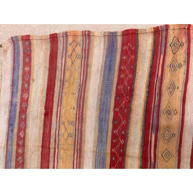 Tribal Vintage Moroccan Tribal Kilim Rug, circa 1960 For Sale - Image 3 of 13