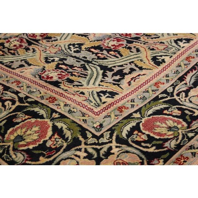 "William Morris Pak-Persian Sandi Black Red Wool Rug - 8'11"" x 10'2"" For Sale - Image 5 of 8"