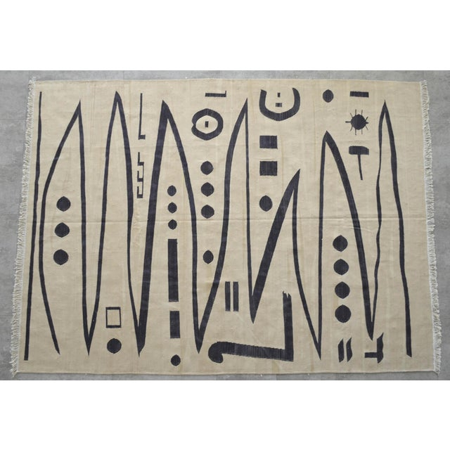 Paul Klee - Heroic Strokes of the Bow - Inspired Silk Hand Woven Area - Wall Rug 4′10″ × 6′7″ For Sale In Raleigh - Image 6 of 12