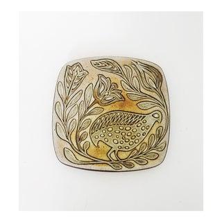 Vintage Pottery Bird Trivet