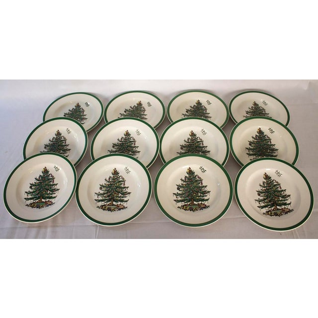 Spode Christmas Tree Salad Plates - Set of 12 | Chairish
