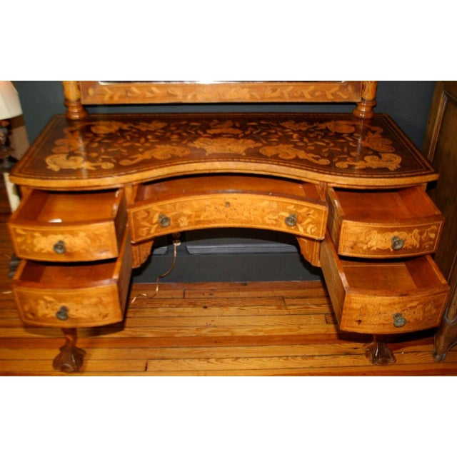 Traditional Late 19th Century Dutch Marquetry Dressing Table For Sale - Image 3 of 11