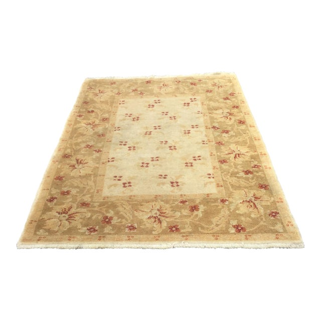 Turkish Oushak Rug - 4′3″ × 6′ - Image 1 of 5