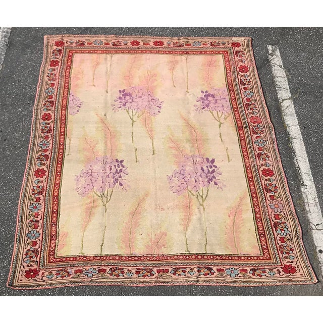 Vintage Design Decorative Turkish Rug- 7′2″ × 10′ For Sale - Image 13 of 13