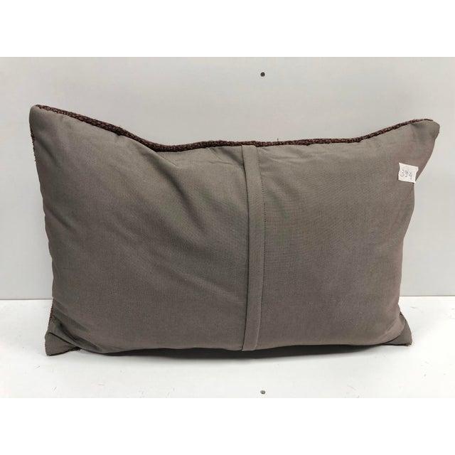 1960s Vintage Turkish Handmade Decorative Bohemian Kilim Pillow For Sale - Image 5 of 6