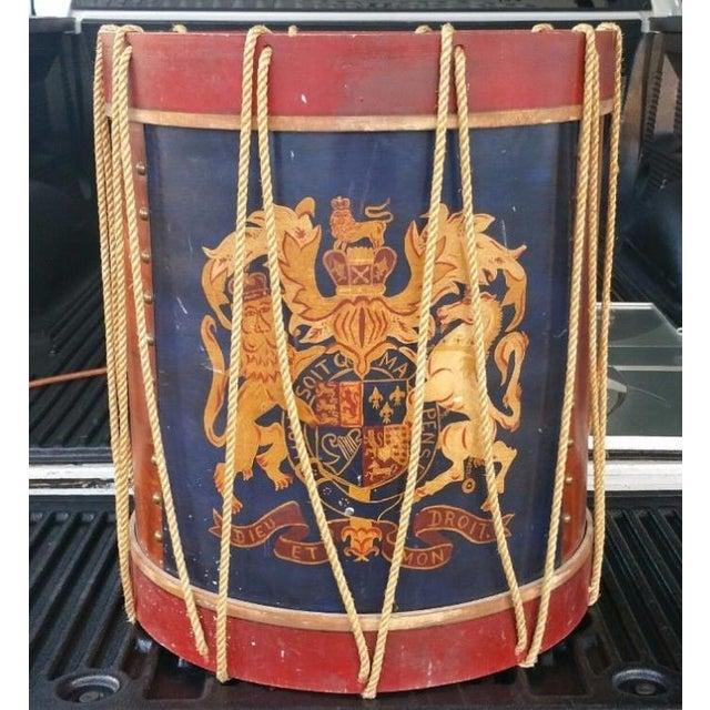 1950s Vintage Polychromed Drum Form Table For Sale - Image 10 of 10