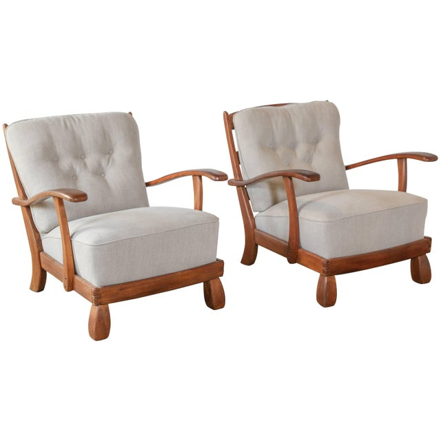 Gray Pair of 1960s Chairs For Sale - Image 8 of 8