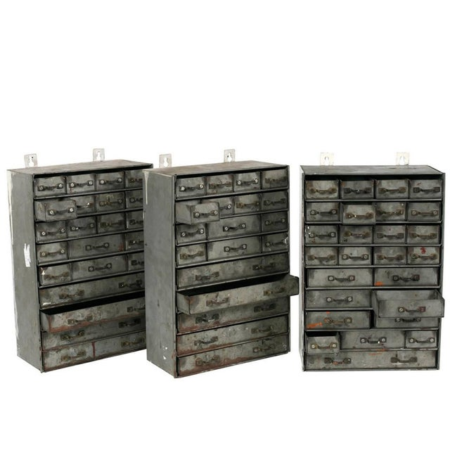 Edwardian French Metal Drawers Circa 1900 For Sale - Image 3 of 4